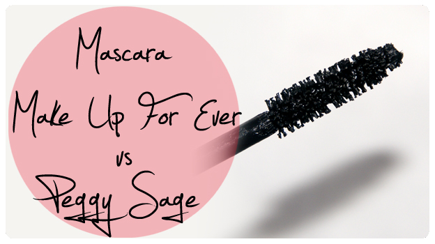 Mascara Make Up For Ever vs. Peggy Sage