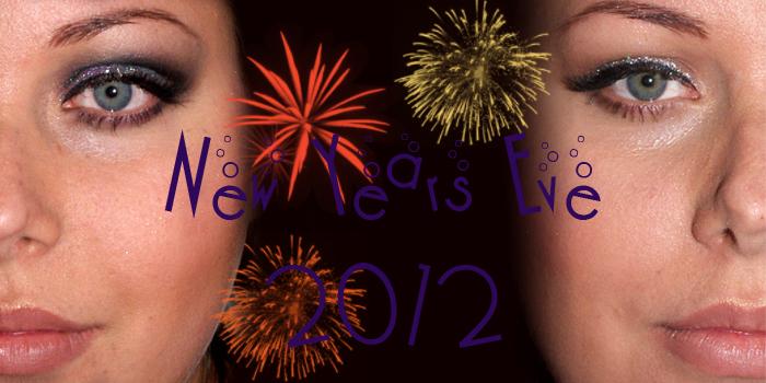2012/2013 New Year's Eve: Glitter Line and Glitter Cut Crease