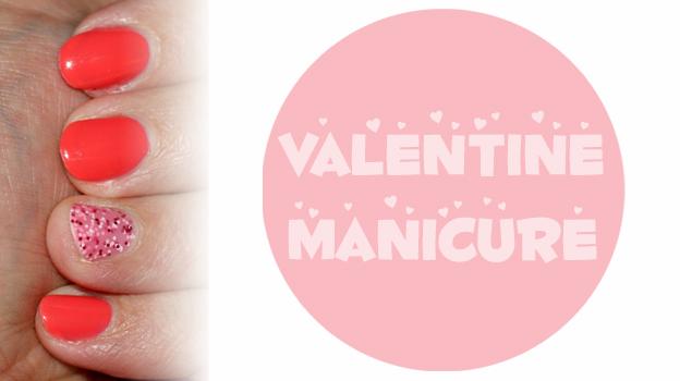 Valentine manicure :)