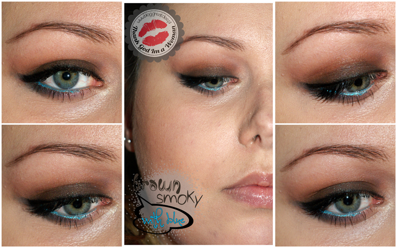000108 Brown smoky with blue