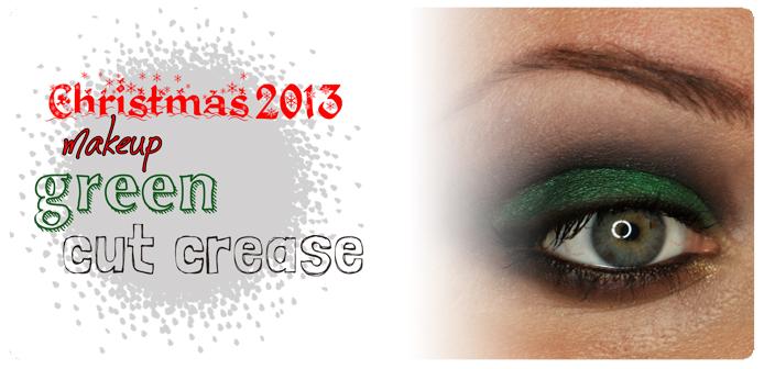 Świąteczny makijaż: Cut crease w zieleni