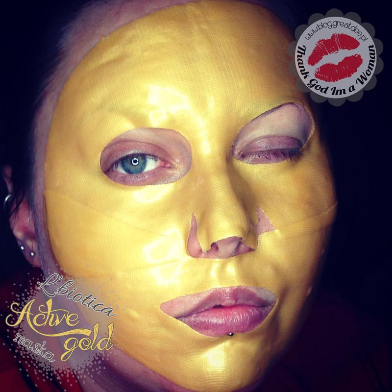 Złota maska L'biotica Active Gold