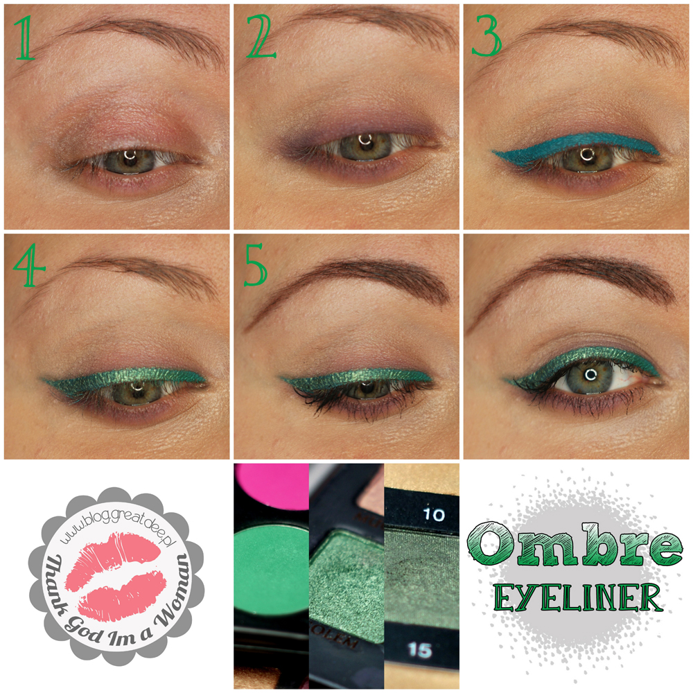 Make-up tutorial: Kreska Ombre Step By Step makijaż