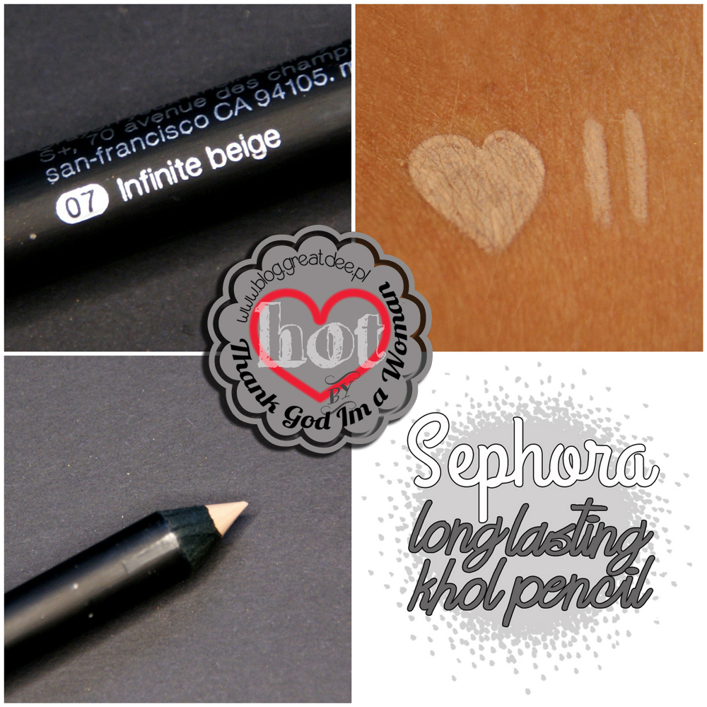 Sephora long lasting khol pencil 07 infinite beige