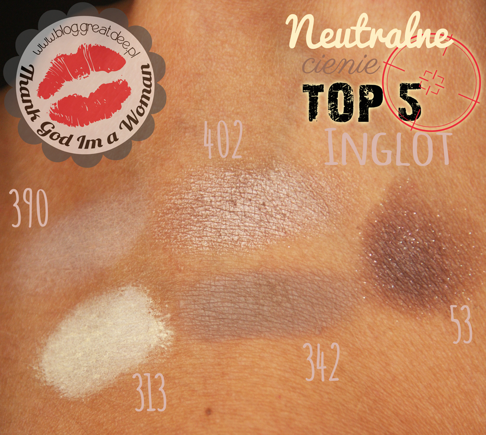 Top5: Neutralne cienie Inglot