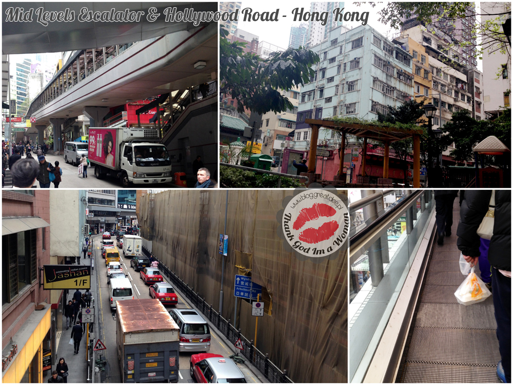 Mid Levels Escalator & Hollywood Road - Hong Kong
