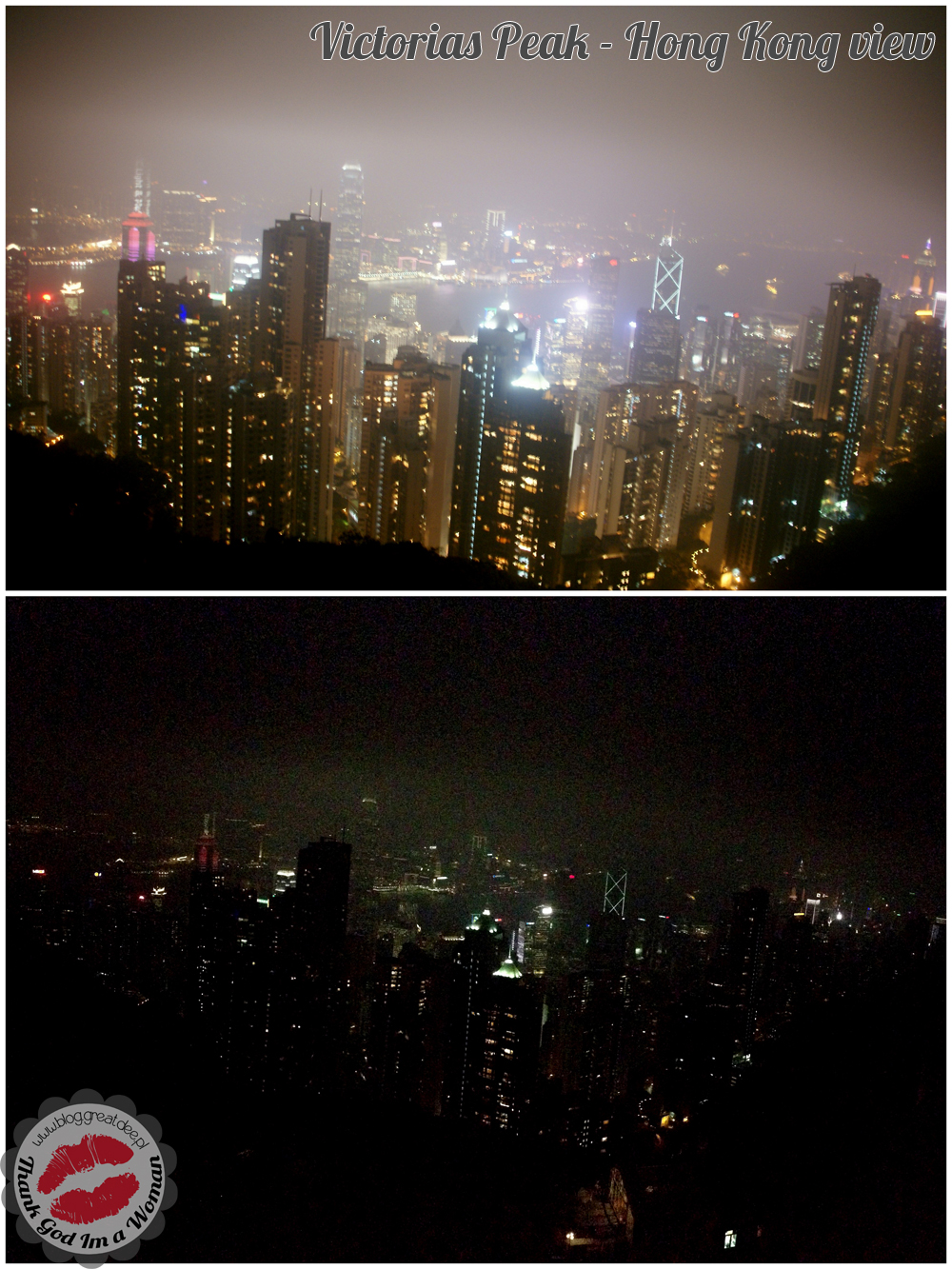 Hong Kong Victorias Peak view