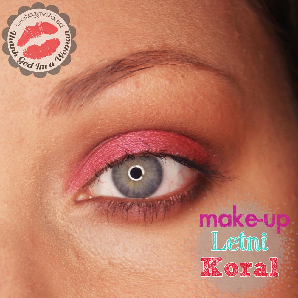 Make-up: Letni koral - lekki makijaż na lato