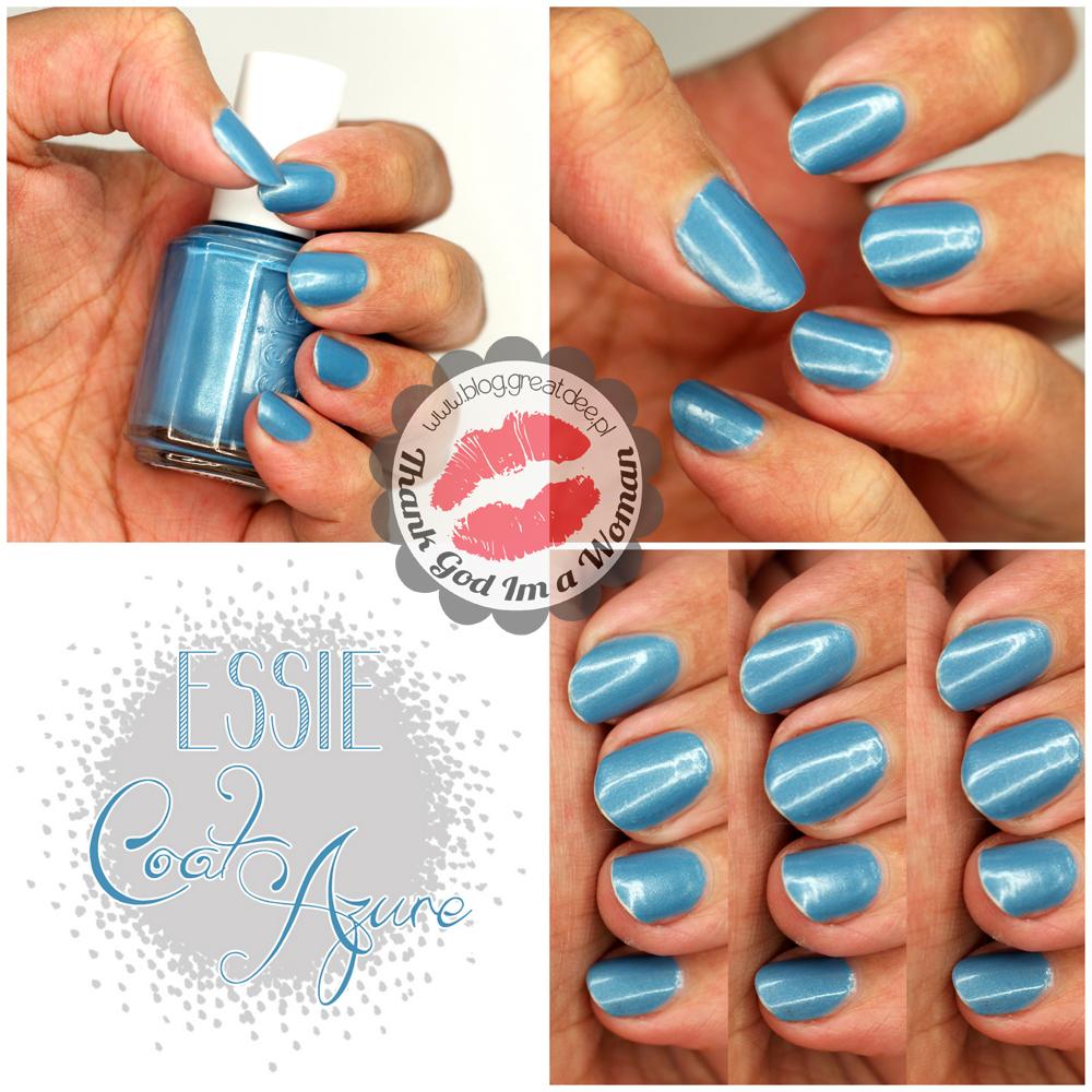 Essie Coat Azure - letni błękit :)