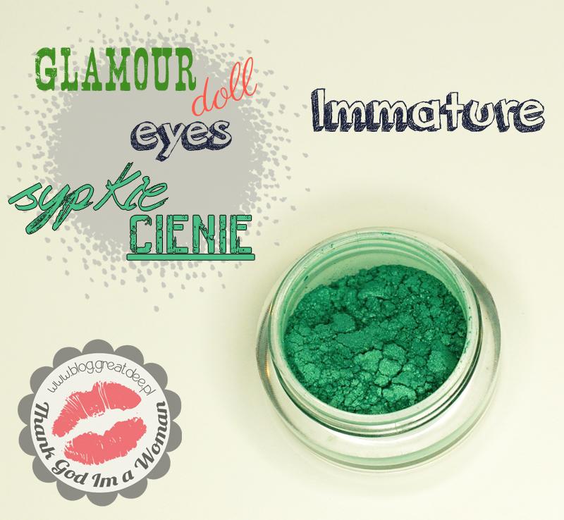Glamour Doll Eyes - sypkie cienie mineralne immature - swatche, opis, recenzja