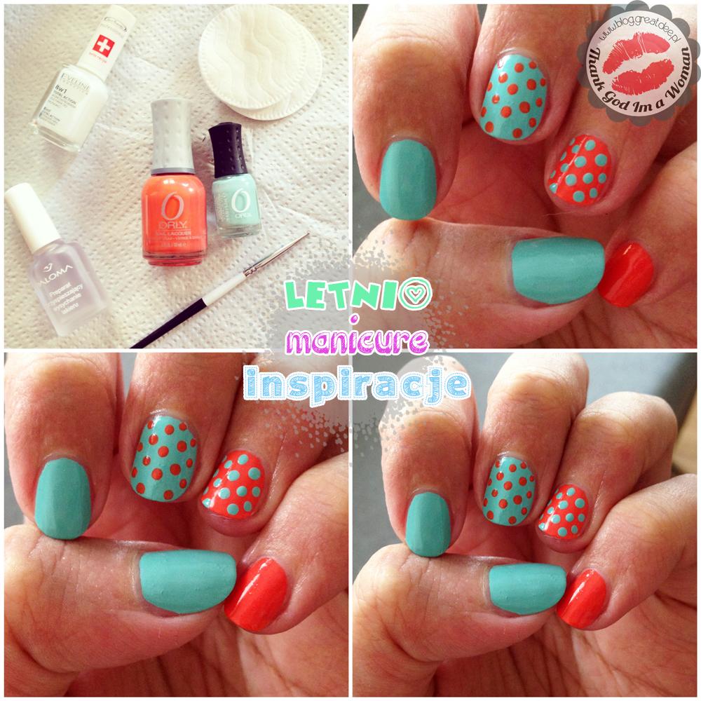 Letni manicure - kilka inspiracji polka dots