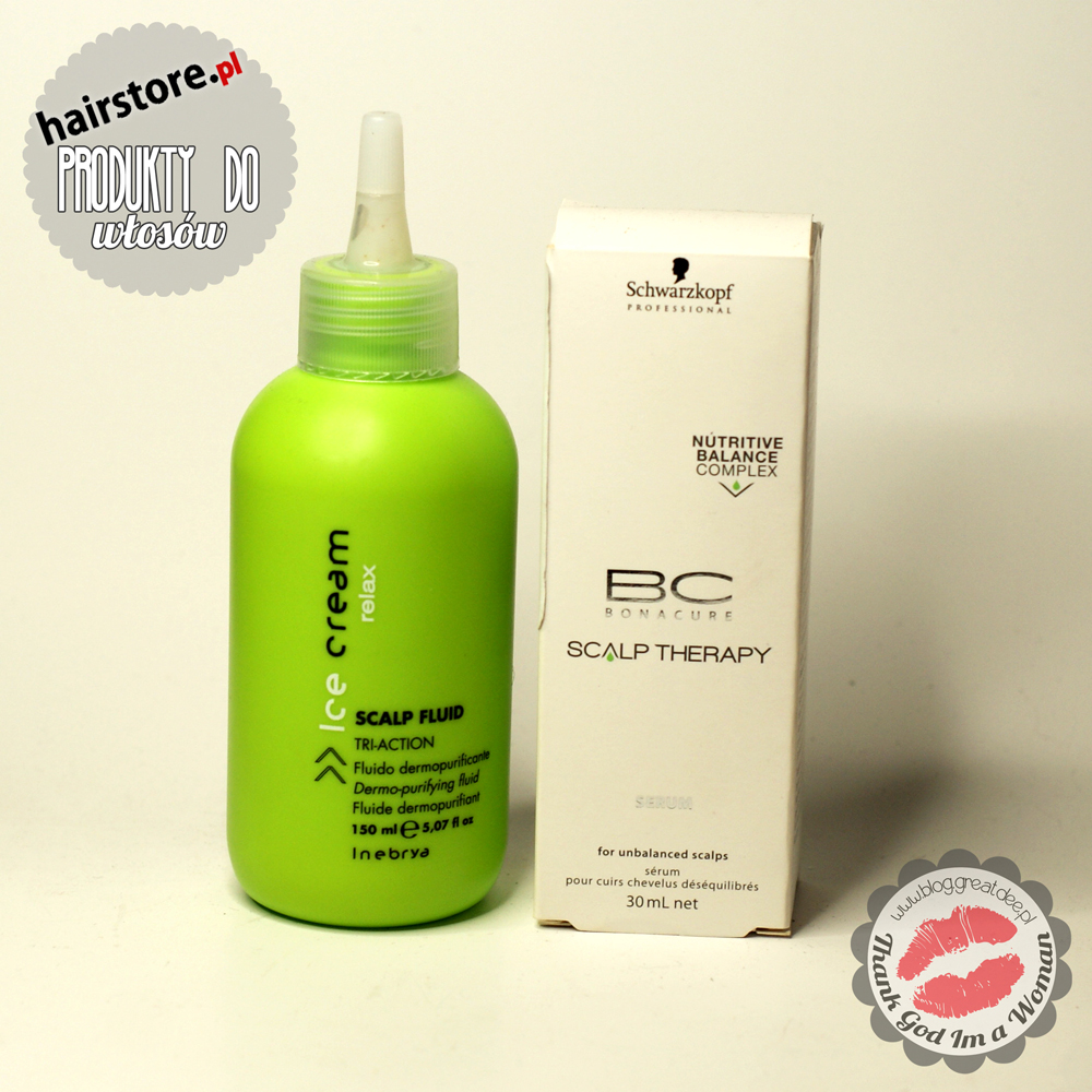 HairStore.pl: Inebrya scrub do skóry głowy i Schwarzkopf BC serum