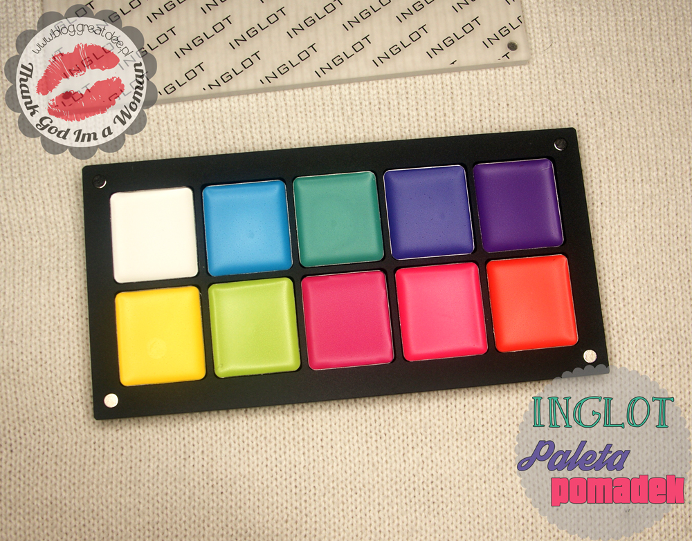 Inglot: paleta pomadek Color Play