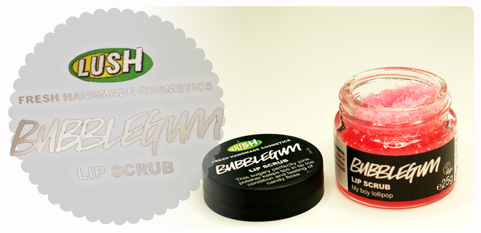 Lush Bubblegum lip scrub czyli jak dbać o usta ze smakiem