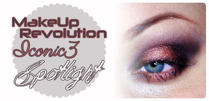 MakeUp Revolution Iconic3 makijaż typu Spotlight