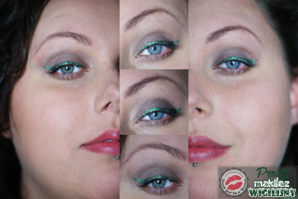 Prosty makijaż wigilijny lub świąteczny