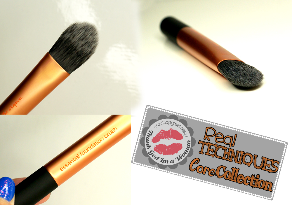 Real Techniques pędzle - Core Collection pointed foundation brush
