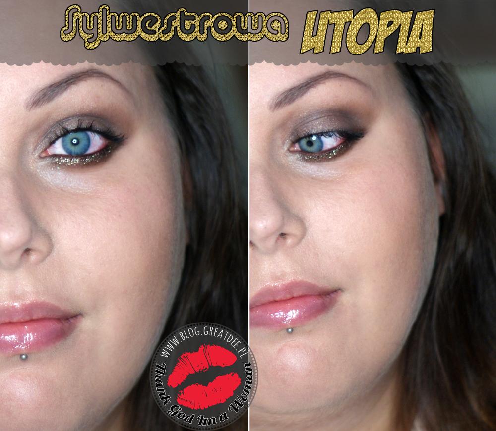 Make-up: Sylwesterowa Utopia czyli złoty brokat MUG