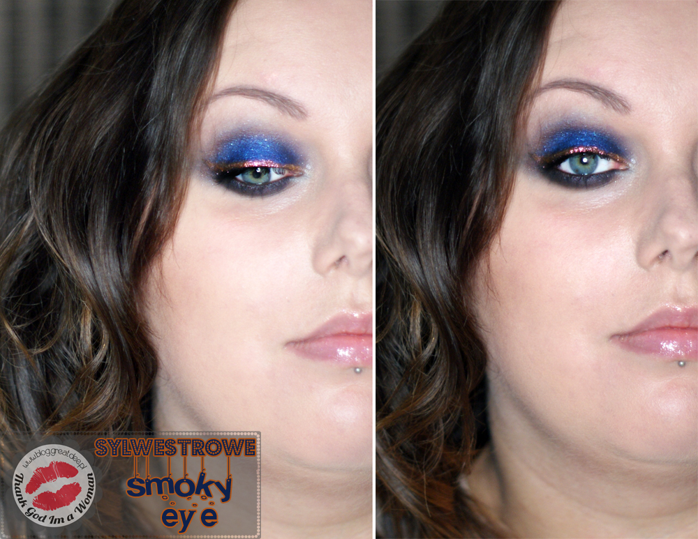 Make-up: Sylwestrowe smoky eye - granat i miedź