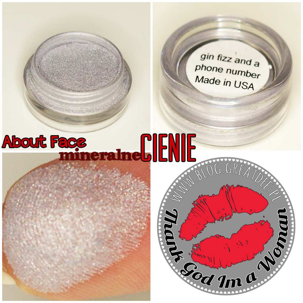 Cienie mineralne About Face - swatch gin fizz and a phone number