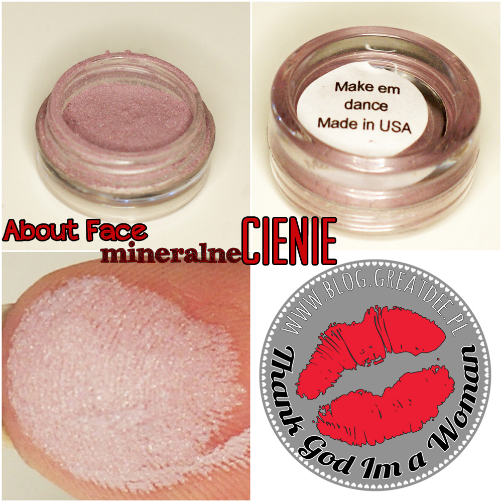Cienie mineralne About Face - swatch make em dance