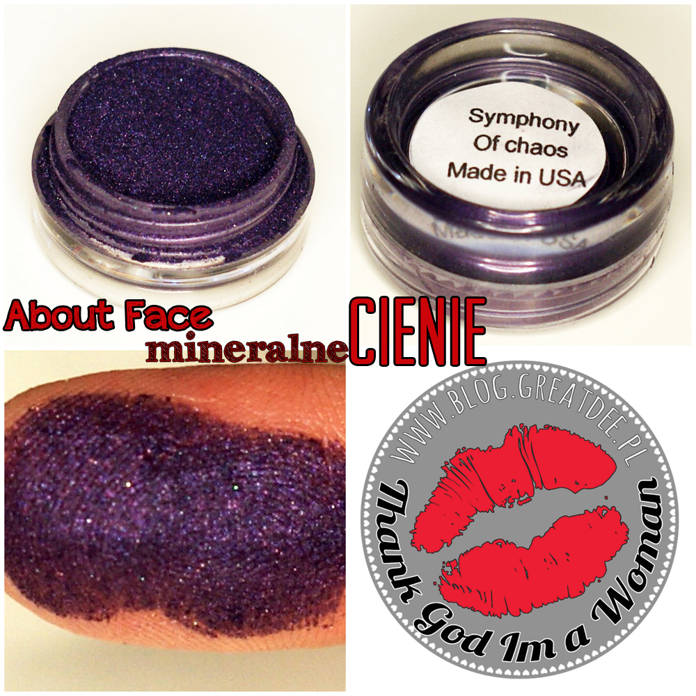 Cienie mineralne About Face - swatch symphony of chaos