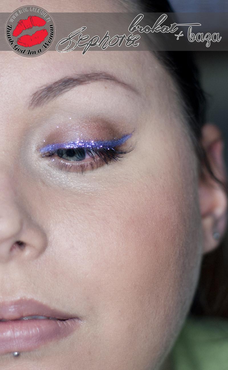 Sephora brokat i baza Lavender plus brokatowy makijaż
