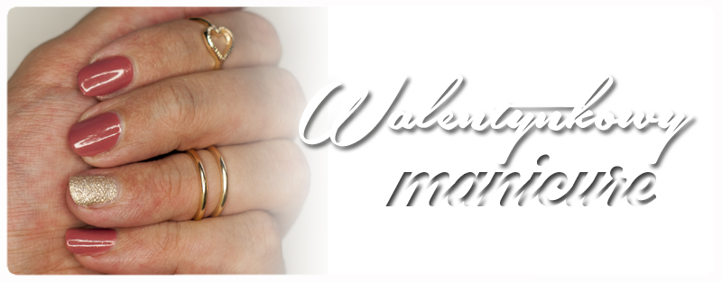 Walentynkowy Manicure z OPI i Golden Rose