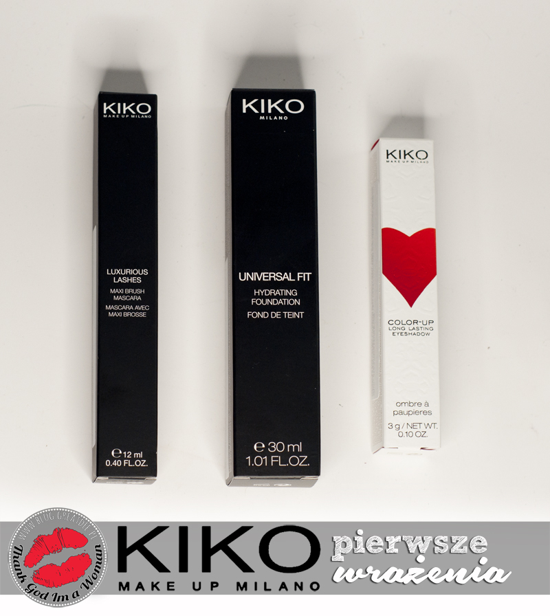 KIKO w Poznaniu - pierwsze wrażenia - Universal Fit, Color-Up long lasting eyeshadow, Luxurious Lashes
