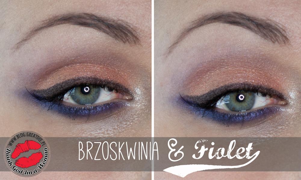 MAKE-UP: Brzoskwinia i fiolet na początek wiosny :) tutorial