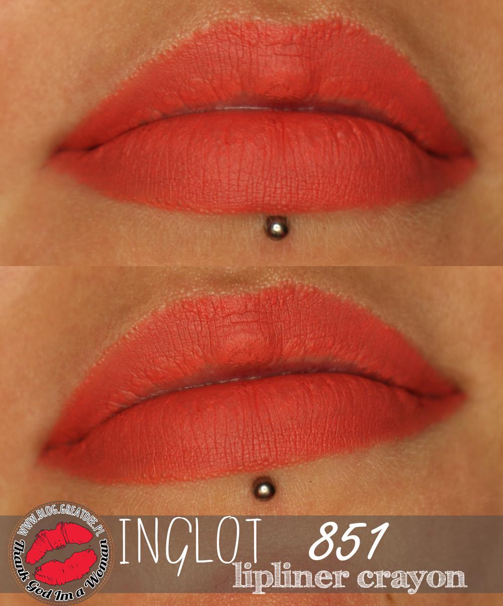 Inglot konturówka 851 - idealny koralowy odcień