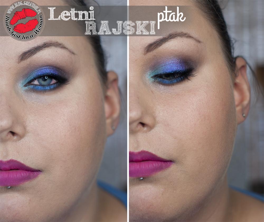 """Makeup: Letni makijaż imprezowy a'la """"Rajski ptak"""" ;)"""