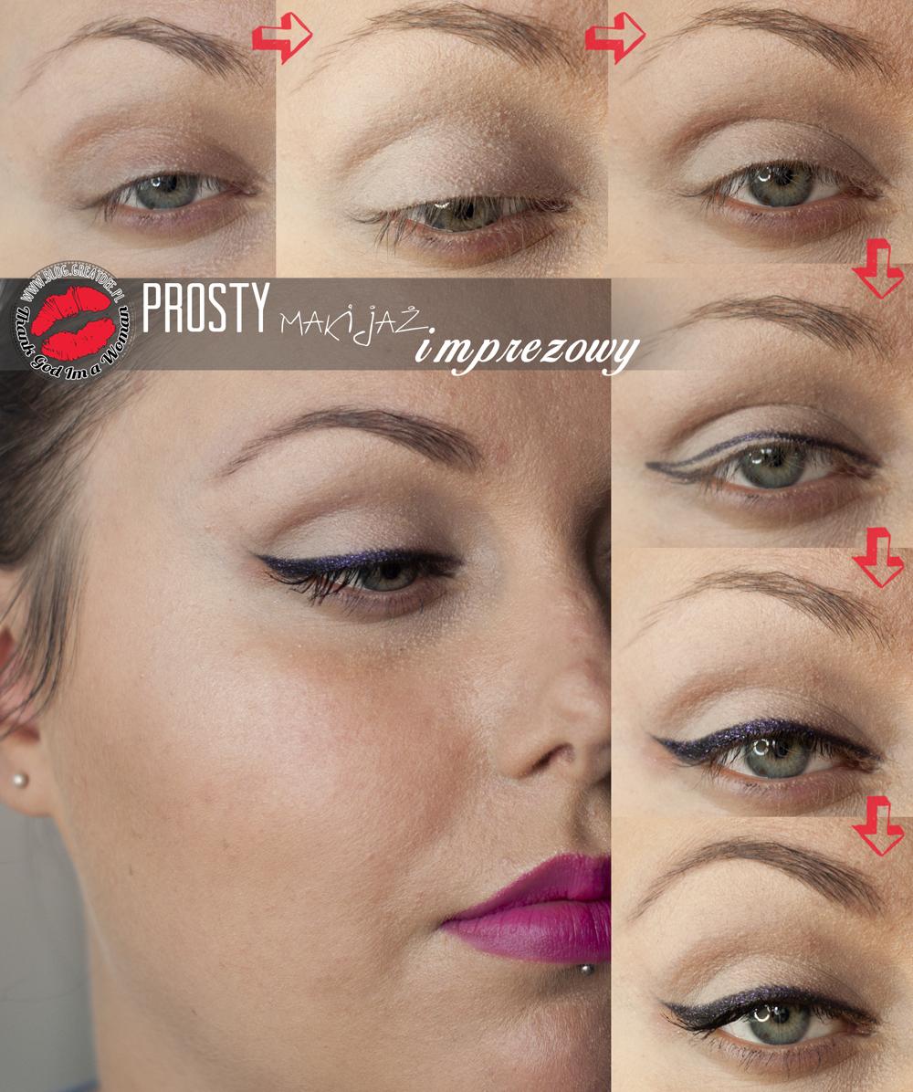 Makeup: Prosty makijaż rockowy na imprezę - tutorial