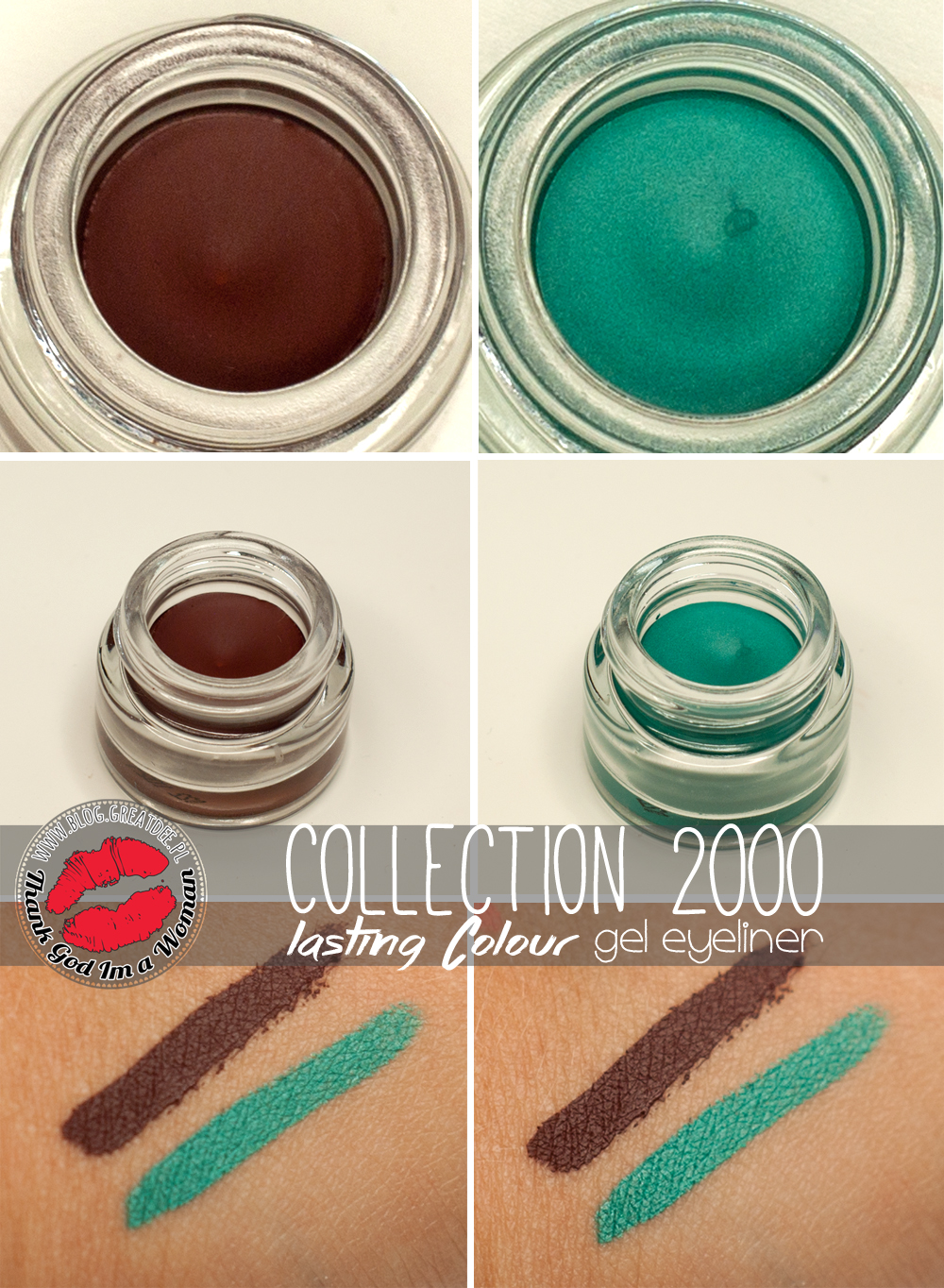 Collection 2000 - Lasting Colour gel eyeliner Brown & Teal