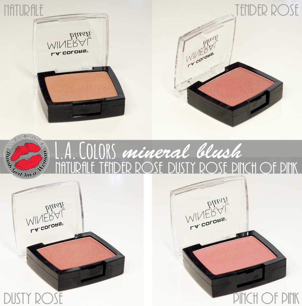 L.A. Colors - Mineral Blush - tanie a ładne róże z USA