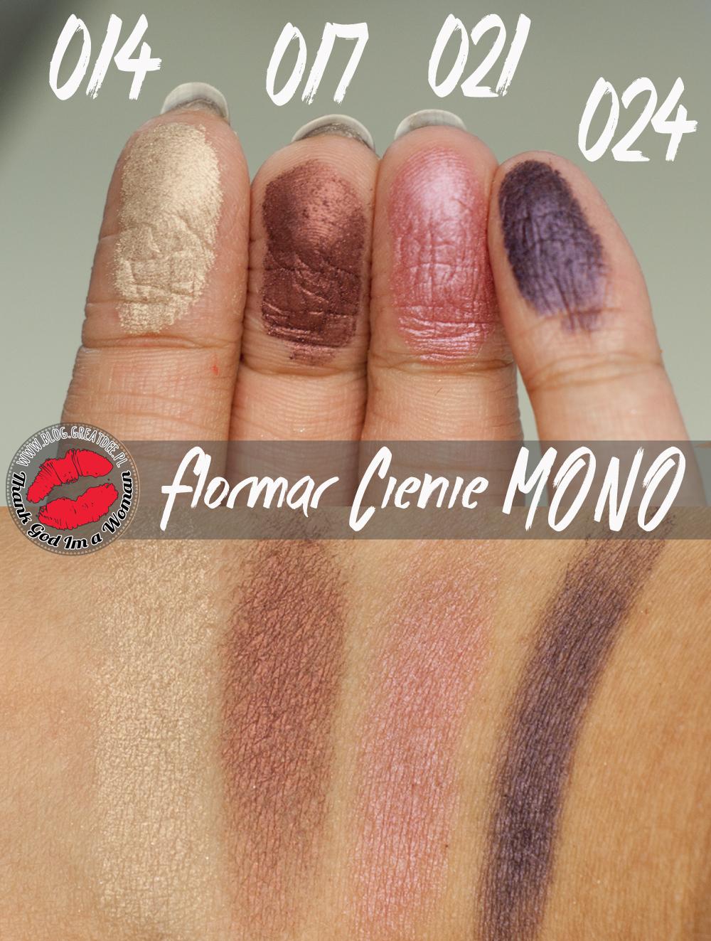 Flormar - cienie z serii MONO 014 017 021 024
