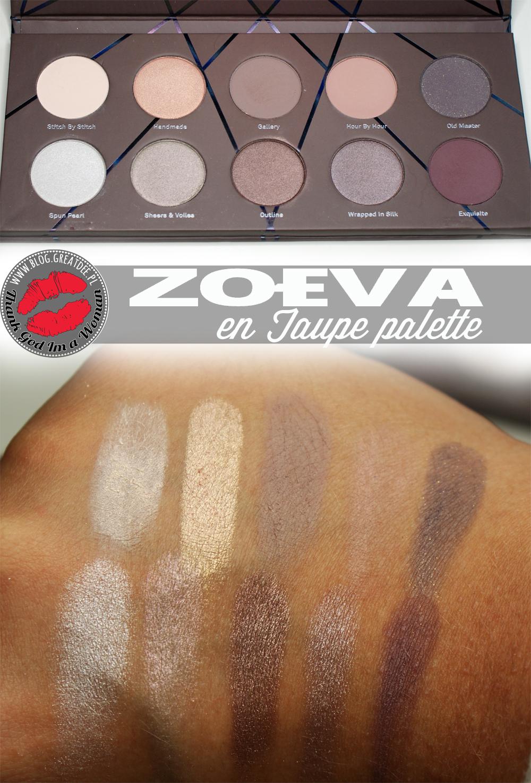 Zoeva: Paleta En Taupe - prezentacja i swatche