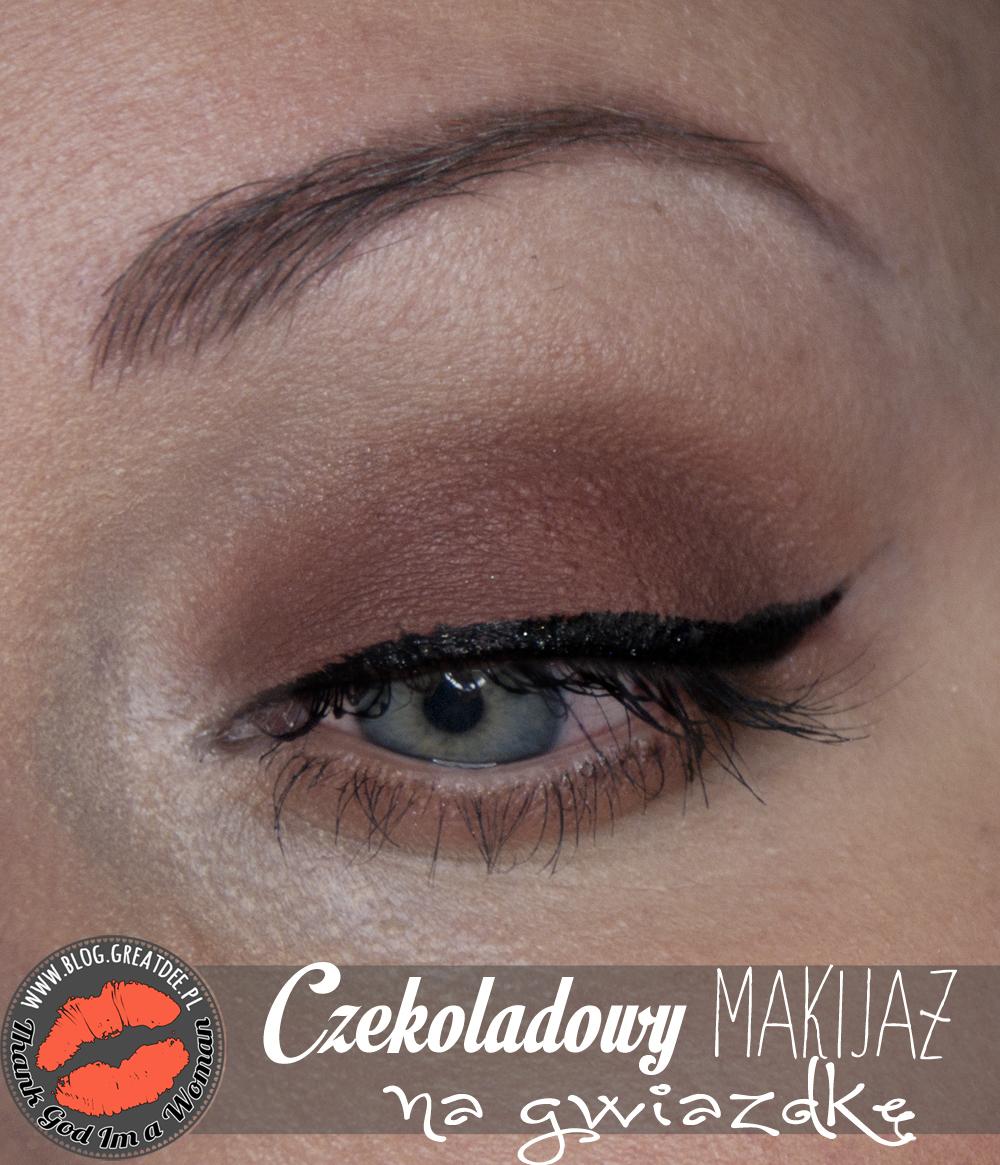 Make-up: Czekoladowy makijaż na Gwiazdkę