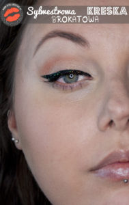 Make-up: Sylwestrowa kreska brokatowa