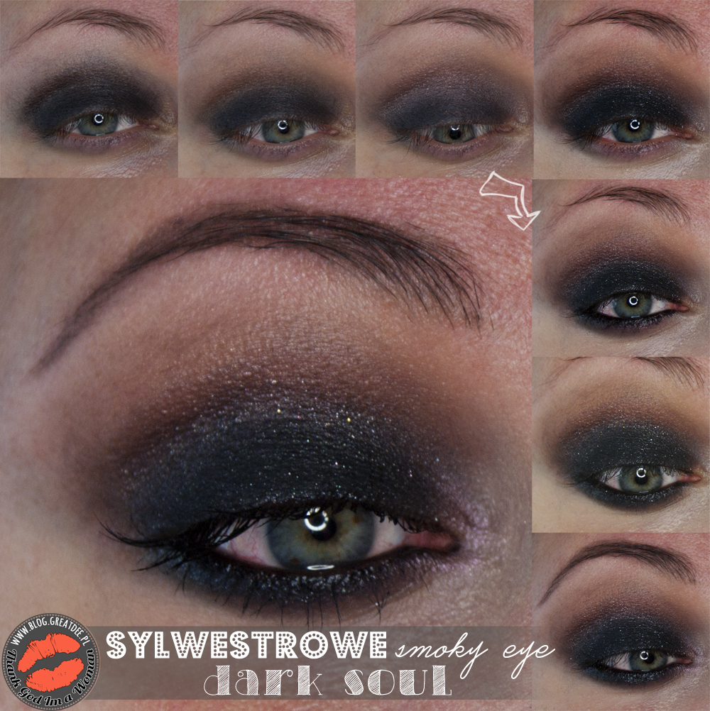 Make-up: Sylwestrowe smoky eye Dark Soul