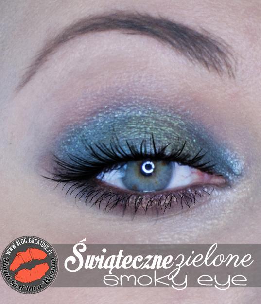 Make-up: Świąteczne smoky eye zielone
