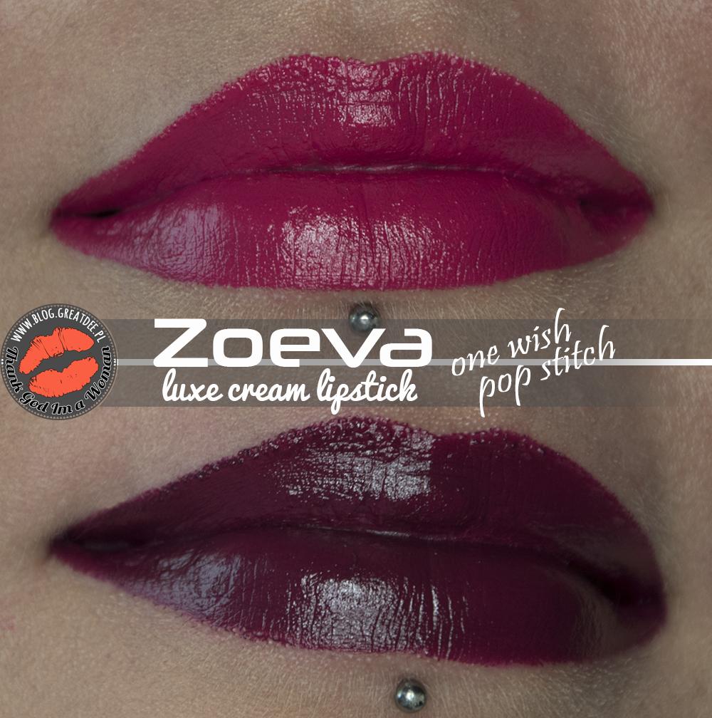 Zoeva Luxe Cream Lipstick One Wish i Pop Stitch