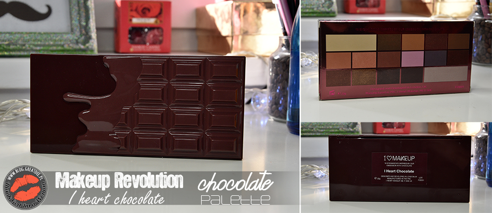 Makeup Revolution - I heart chocolate - paleta cieni do powiek