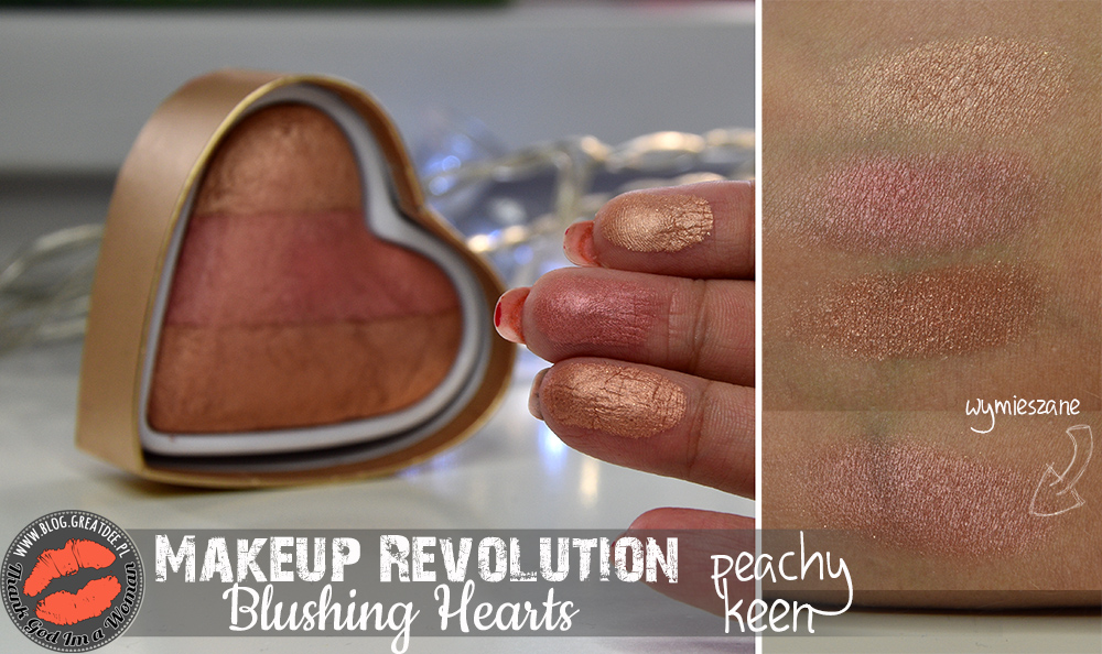 Makeup Revolution Blushing Hearts - Peachy Keen