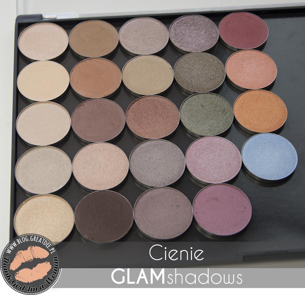 Glamshadows - swatche - przegląd cieni do powiek