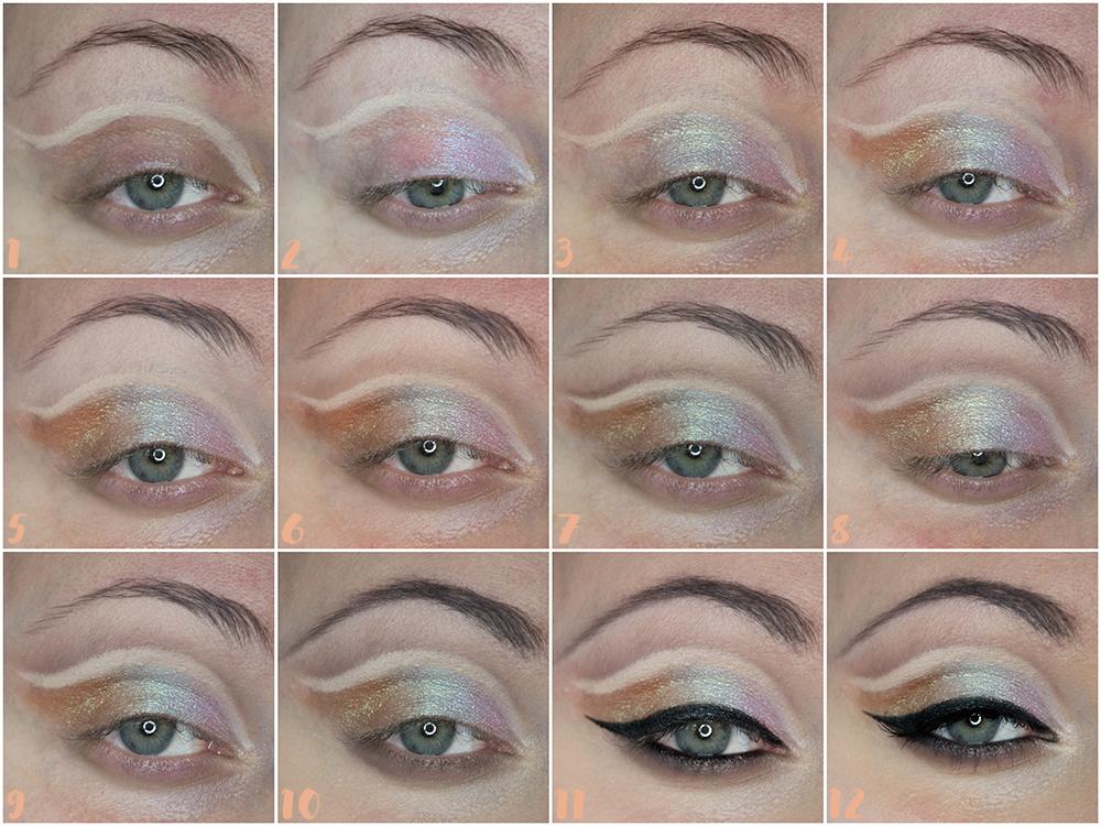 Make-up: Cut Crease z wykorzystaniem cieni duochrome - Tutorial