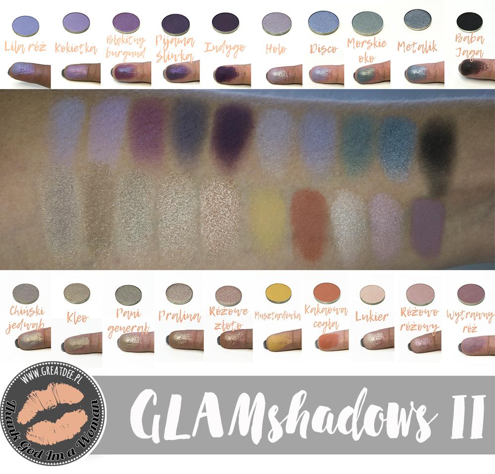 GLAMshadows edycja II - swatche