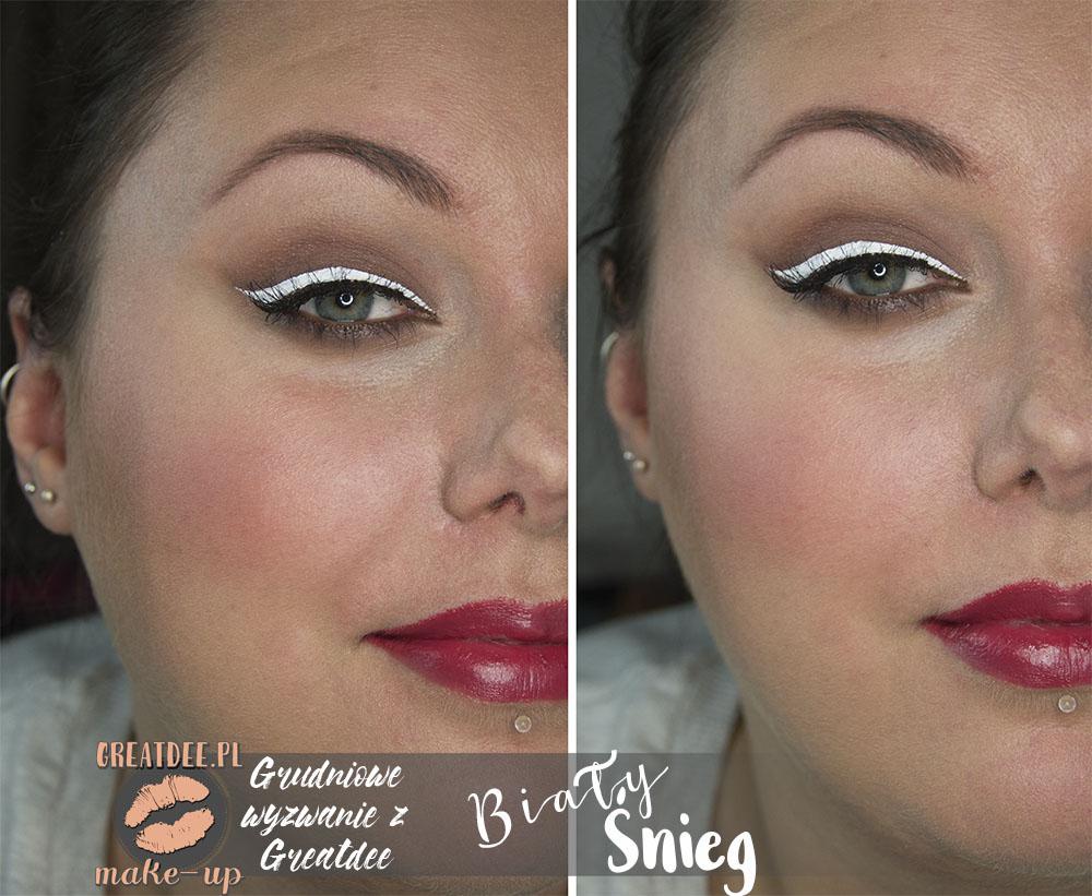 makijaz swiateczny z bialym kolorem calosc twarz