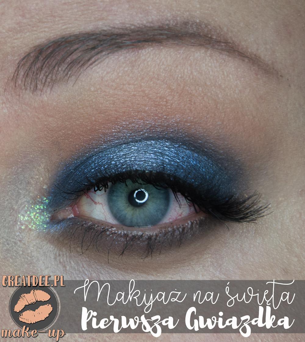 makijaż na święta w niebieskich odcieniach zoom