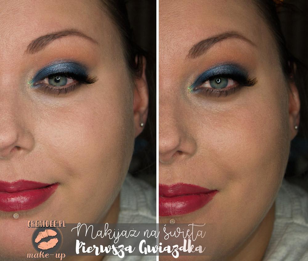 makijaż na święta niebieski całość